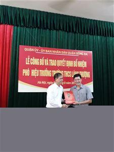 Lễ công bố và trao quyết định bổ nhiệm Phó Hiệu trưởng trường THCS Láng Thượng