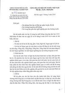 Chính thức công bố môn thi thứ tư vào lớp 10 Hà Nội 2019